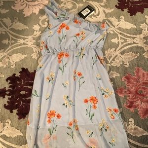 NWT Who What Wear Midi Dress Light Blue Sz L